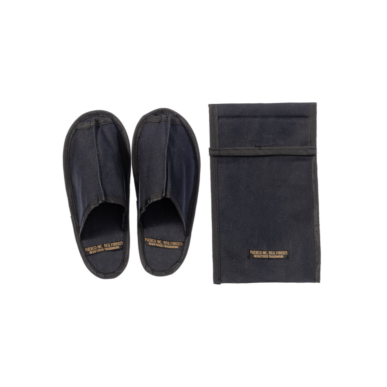 Waxed Canvas Portable Slipper Small Black