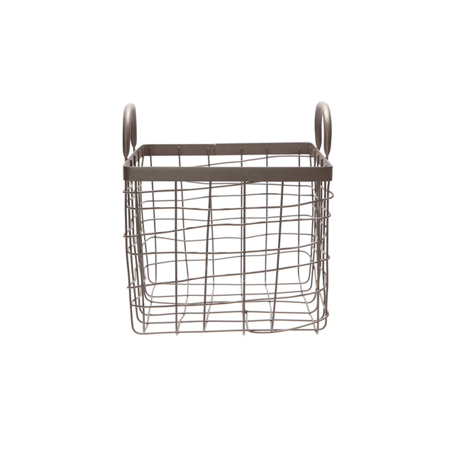 Square Basket With Handle - Small