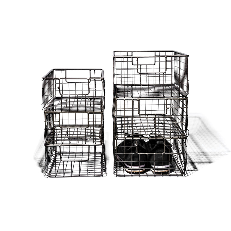 Wire Basket Shoe Box - Medium