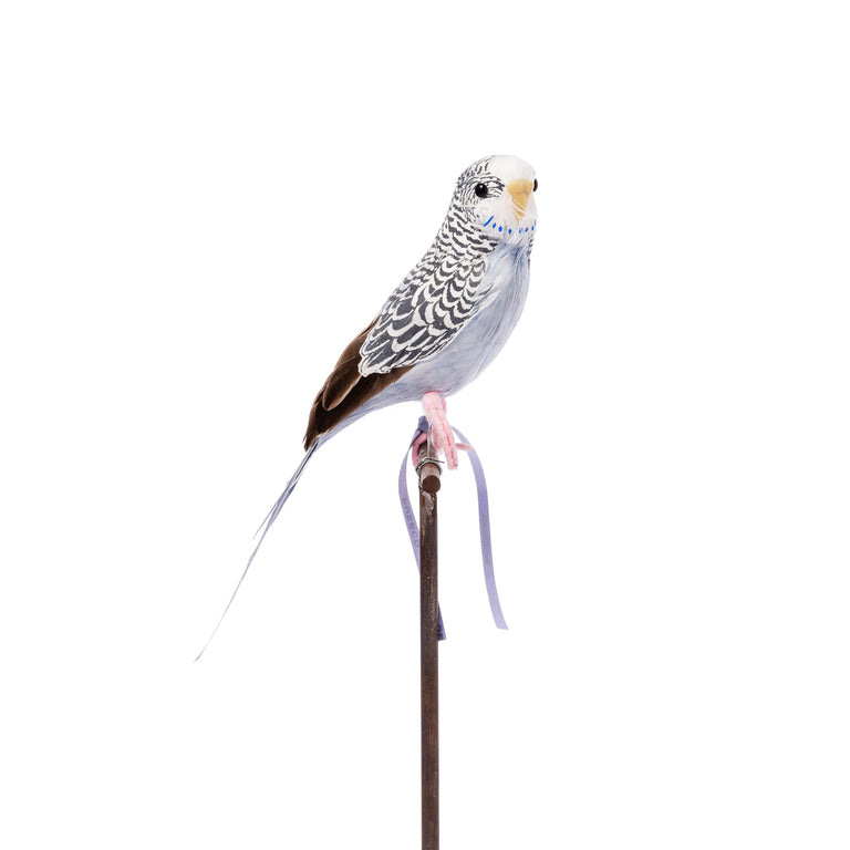 Artificial Bird - Grey Budgie