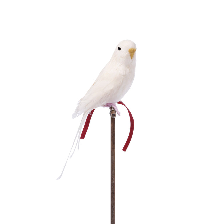 Artificial Bird - White Budgie