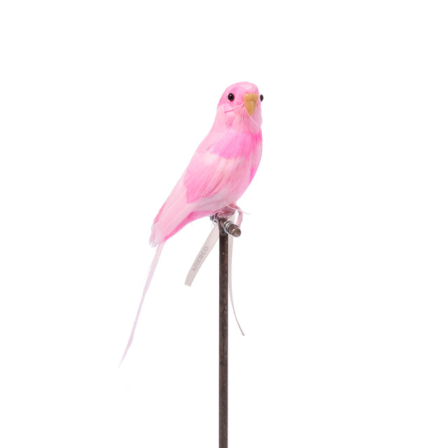 Artificial Bird - Pink Budgie
