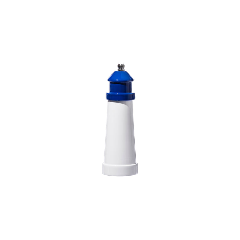 "Lighthouse Shaped Salt & Pepper Mill 6"" Blue"