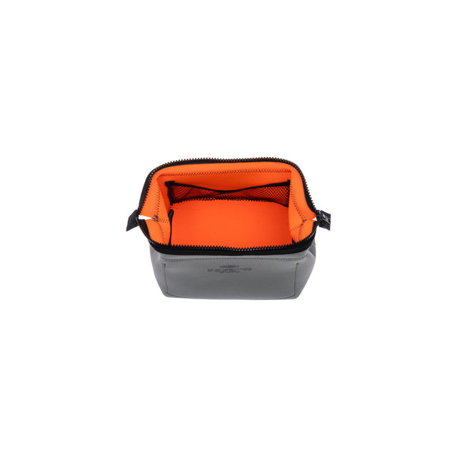 Wired Pouch Small Light Grey/Orange