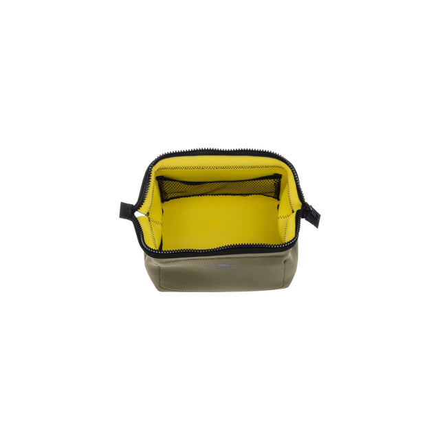 Wired Pouch Small Olive/Yellow
