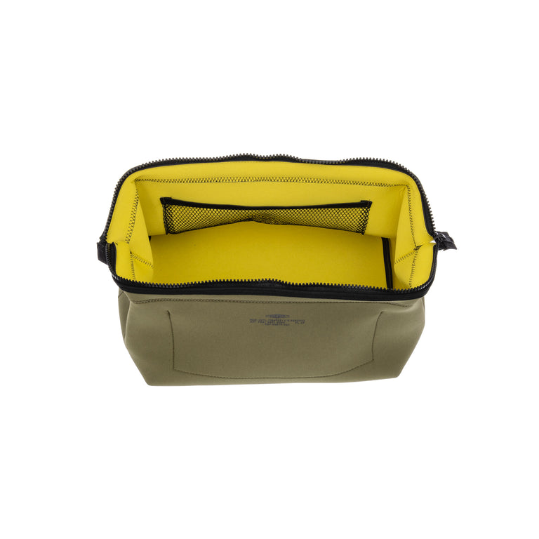 Wired Pouch Large Olive/Yellow