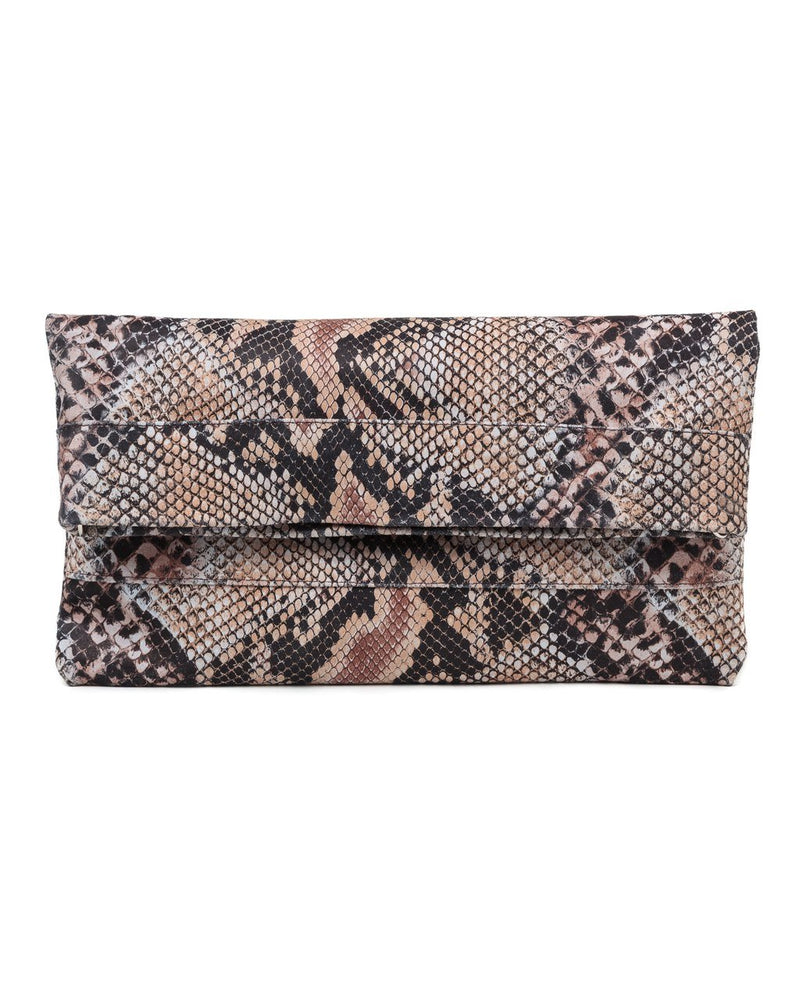 Mollie Cross-Body Convertible Clutch: Snake