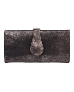 Mila Trifold Wallet: Rose Gold Black