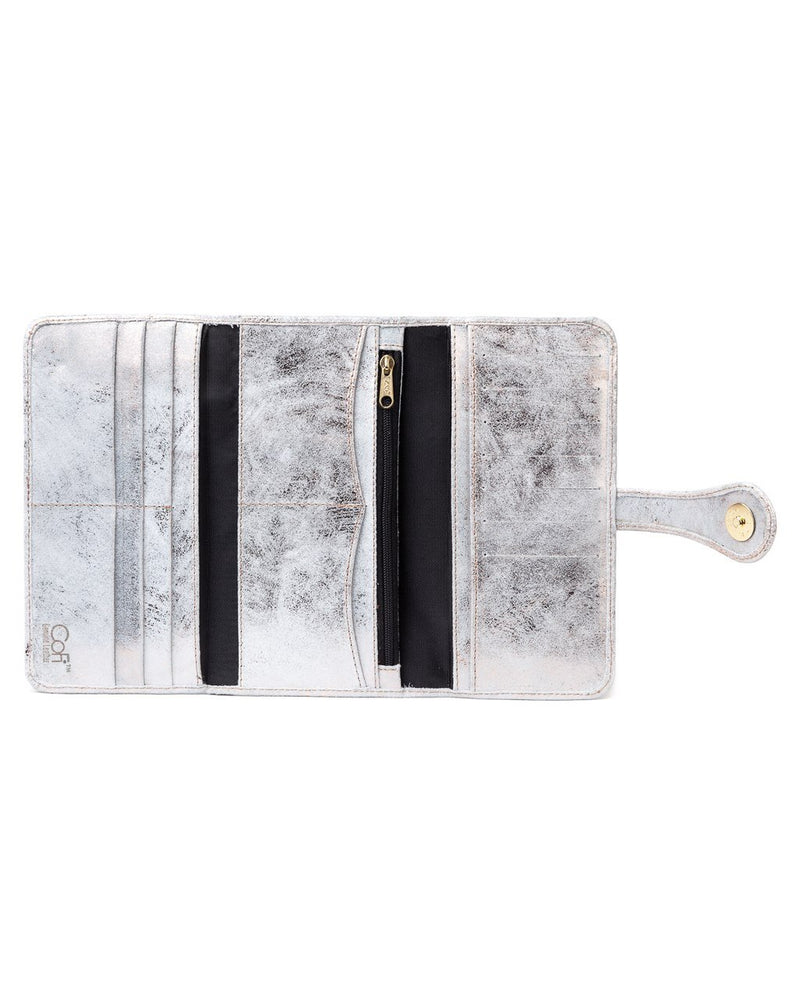 Mila Trifold Wallet: Rose Gold White