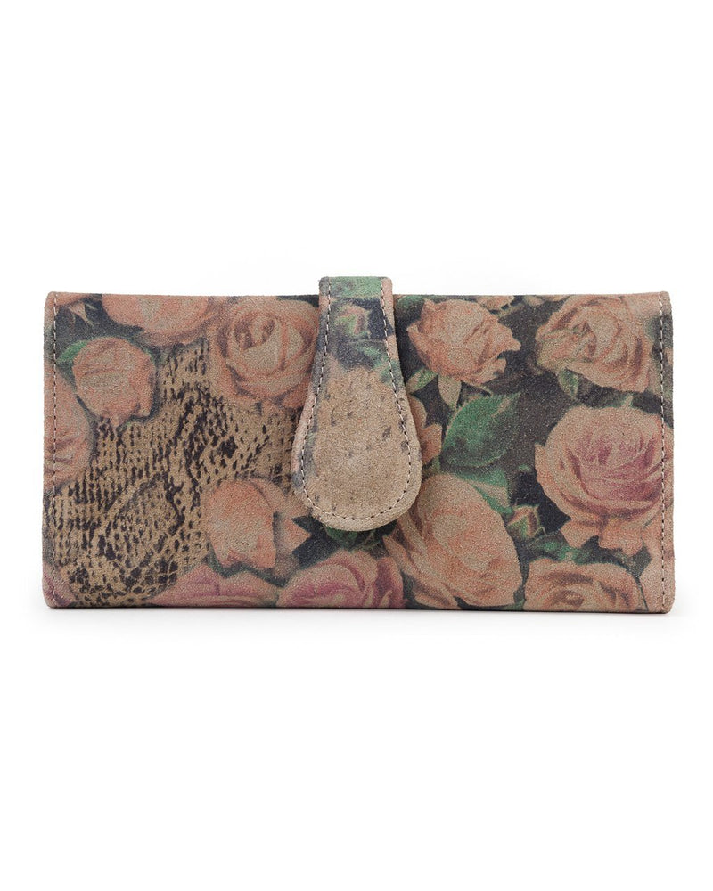 Mila Trifold Wallet: Country Rose