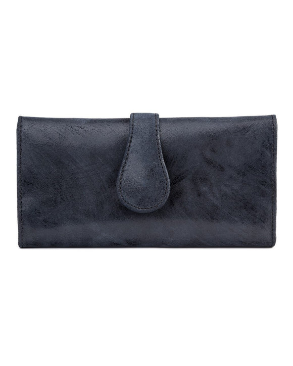 Mila Trifold Wallet: Navy