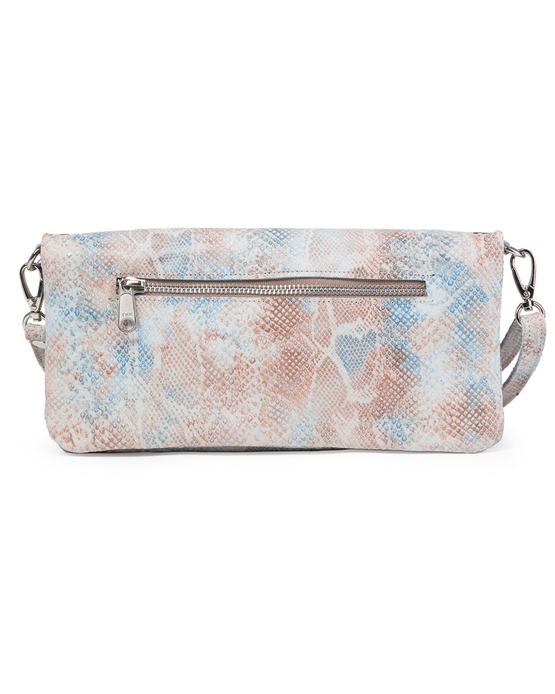Crystal Cross Body: Peachy Snake