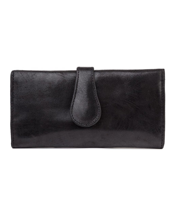 Mila Trifold Wallet: Black