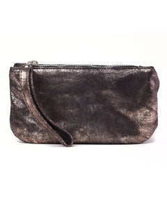 Ellie Wristlet: Rose Gold Black