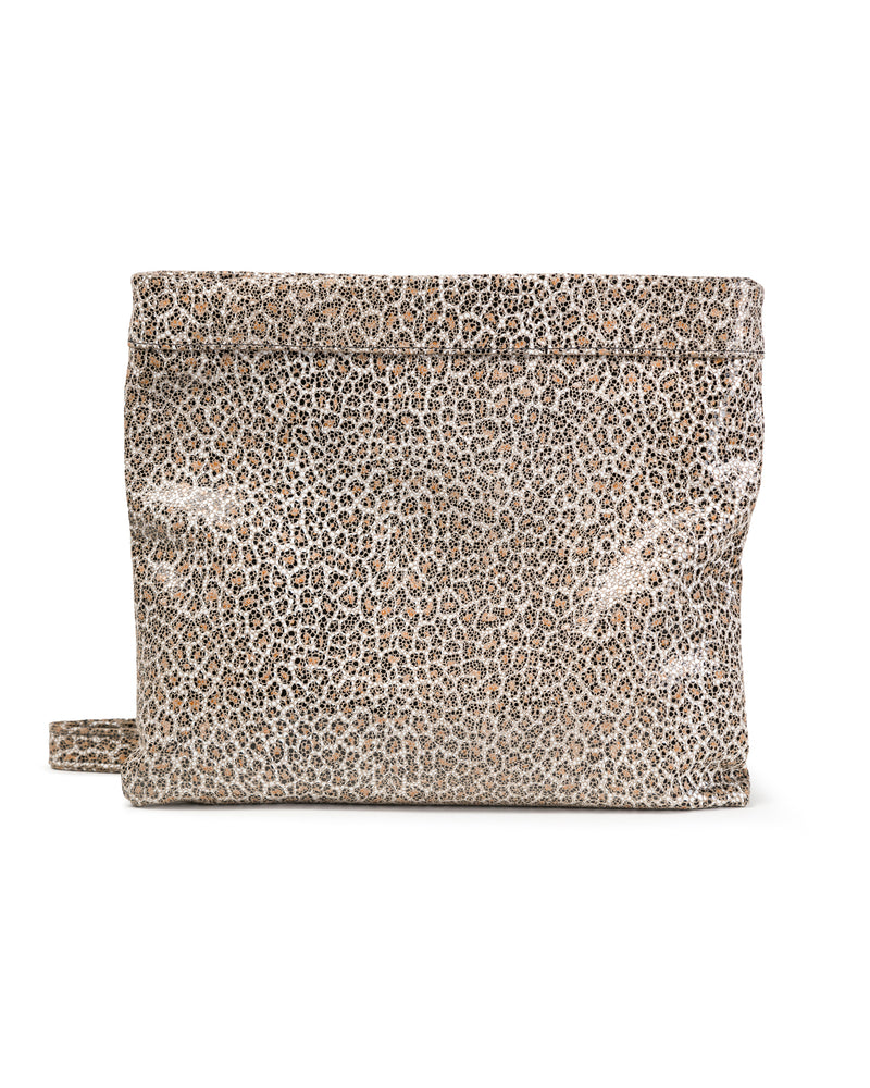 Mollie Cross-Body Convertible Clutch: Mini Sand Leopard