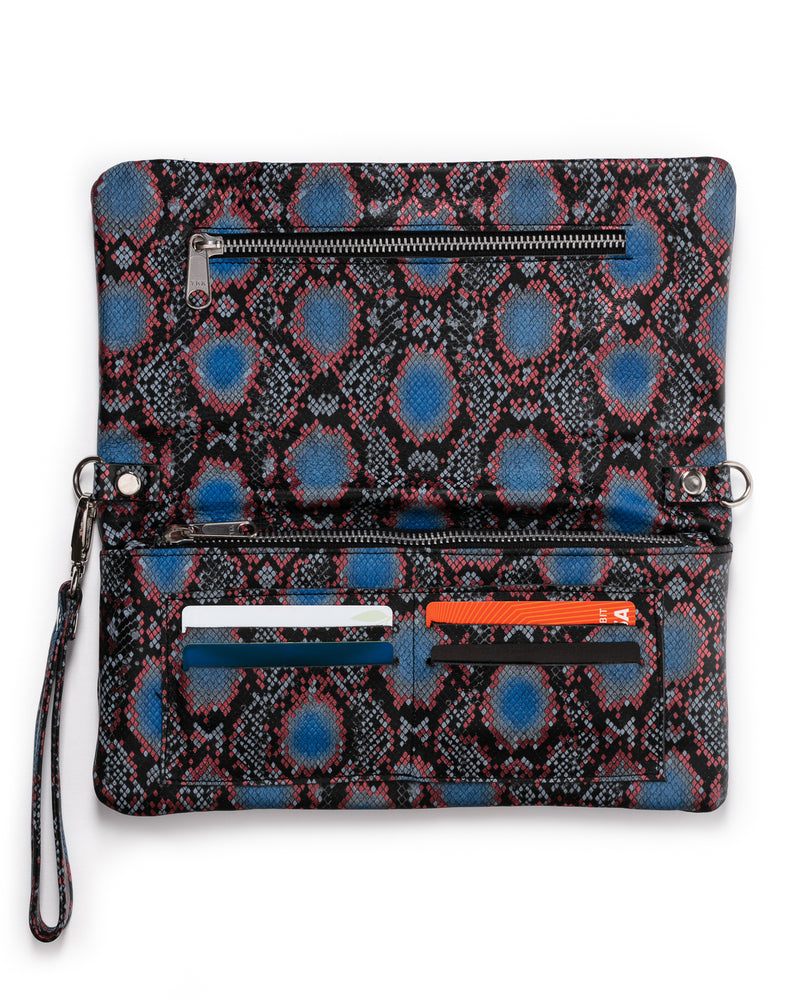 Crystal Cross-Body: Rattlesnake Blue
