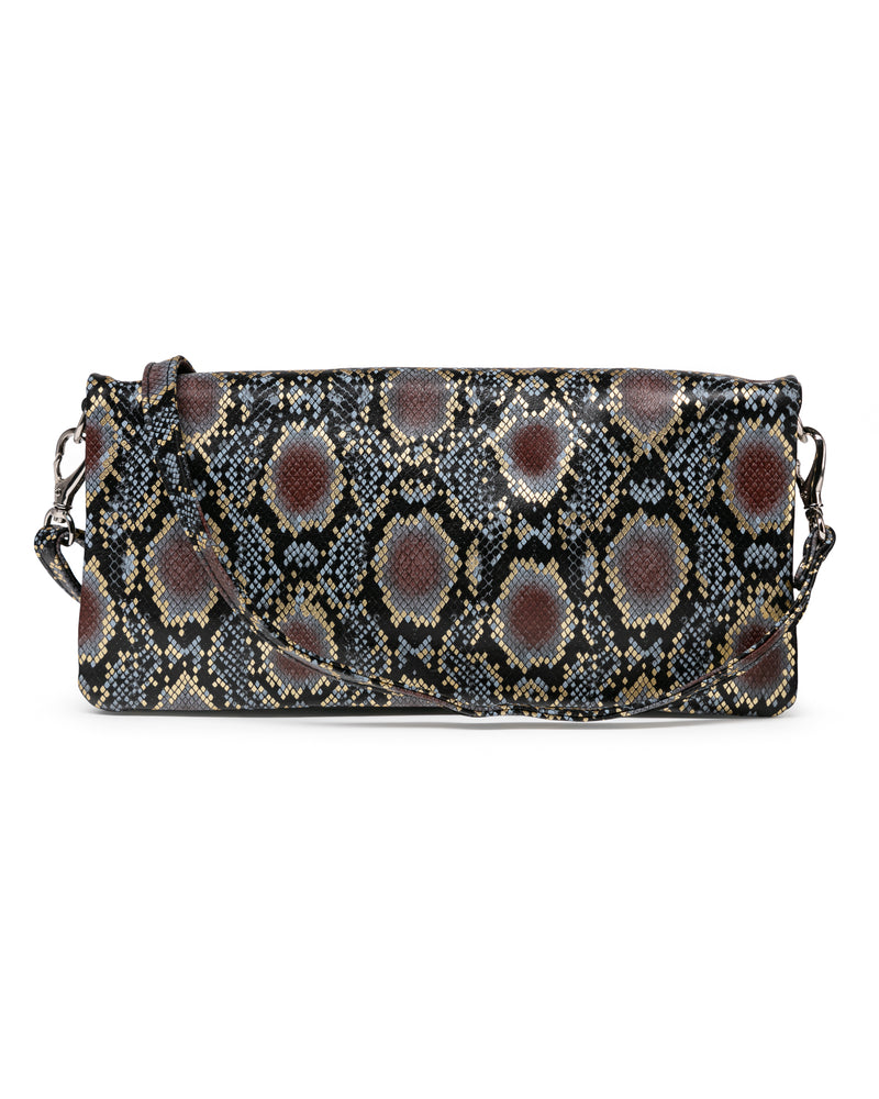 Crystal Cross Body: Rattlesnake Gold