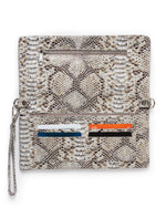 Crystal Cross-Body: Camel Snake