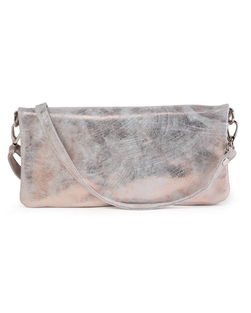 Crystal Cross Body: Rose Gold White
