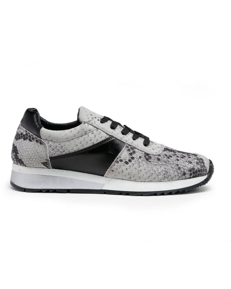Holly Fashion Sneaker: White Snake