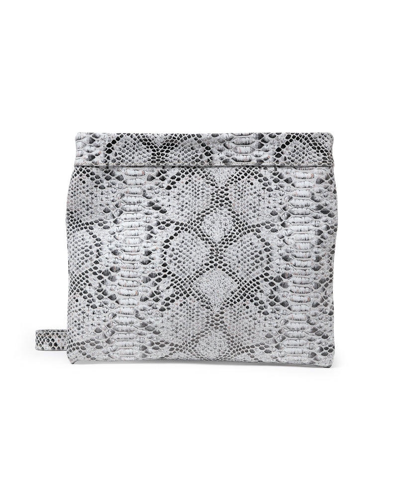 Mollie Cross-Body Convertible Clutch: Ebony Snake