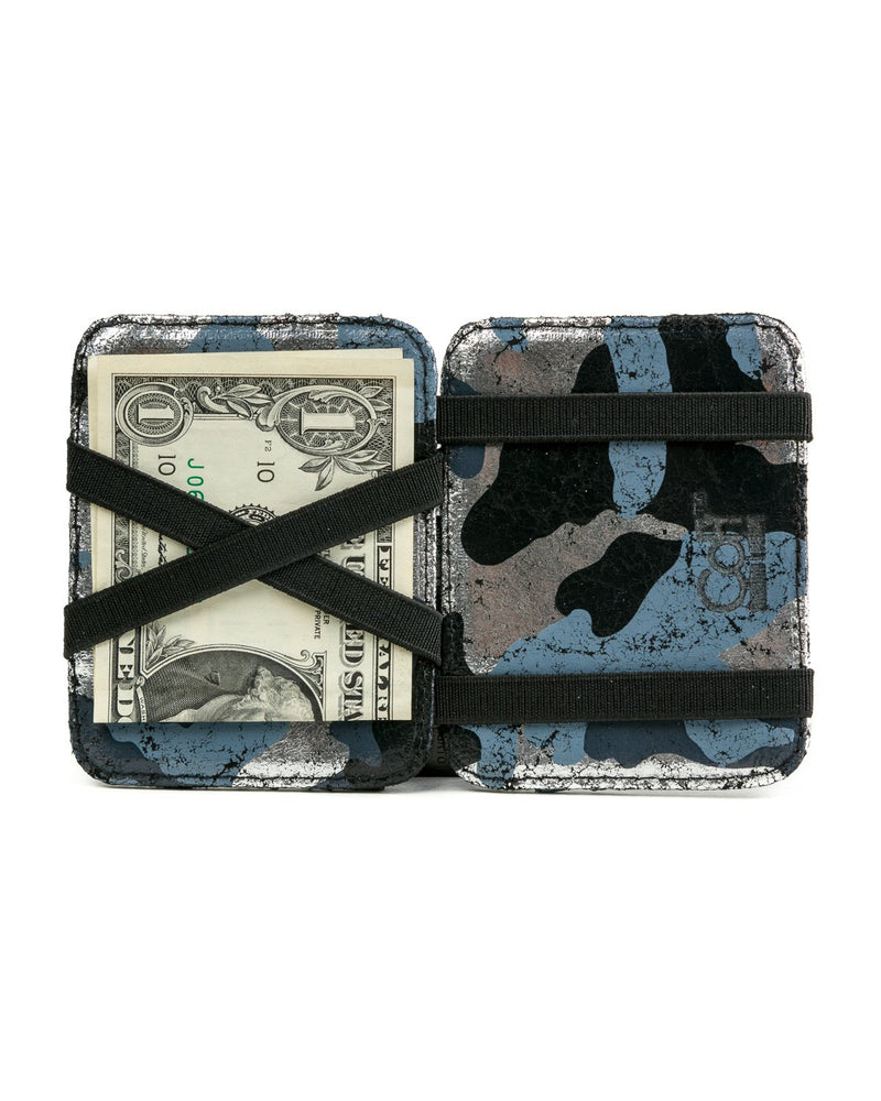 Magic Wallet: Black Silver Camouflage