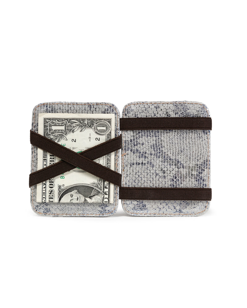 Magic Wallet: White Blue Metallic