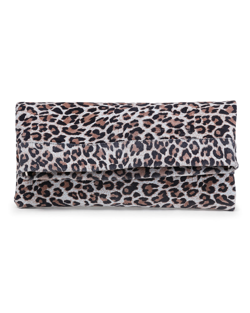 Mollie Cross Body Convertible Clutch: Leopard