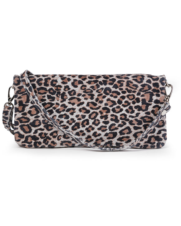 Crystal Cross Body: Leopard