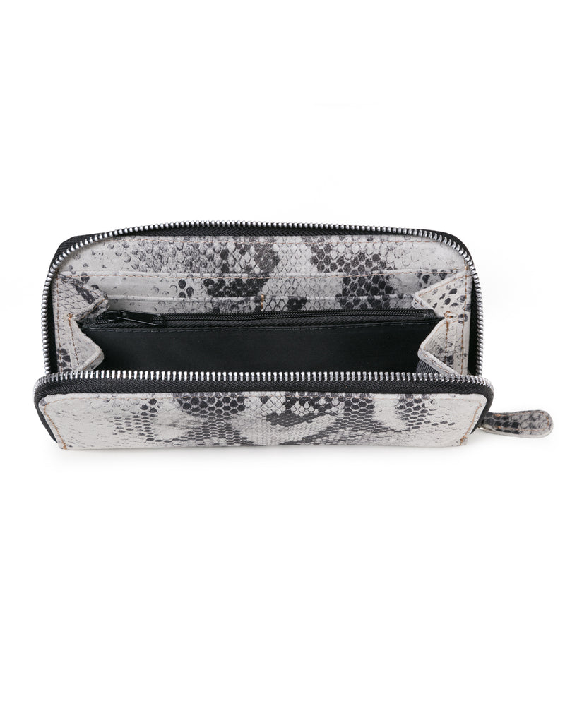 Zip Wallet: White Snake