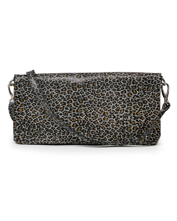 Crystal Cross Body: Mini Black Leopard