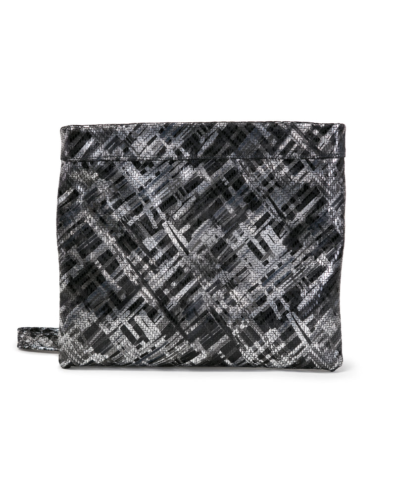 Mollie Cross Body Convertible Clutch: Black Silk