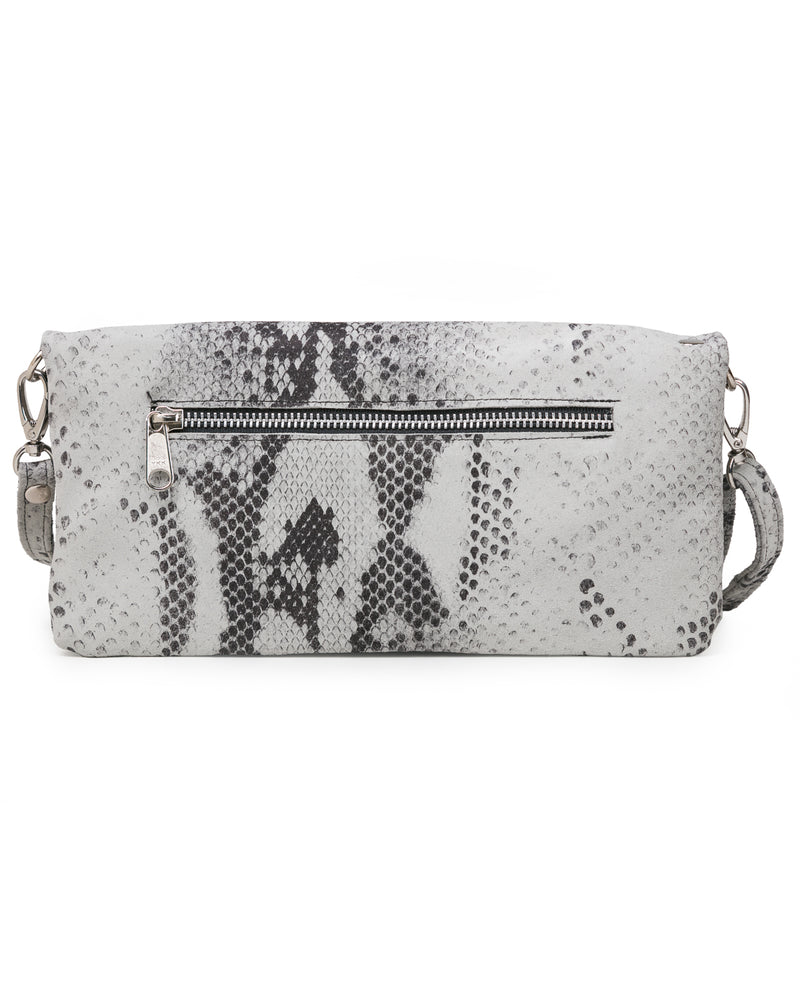 Crystal Cross Body: White Snake
