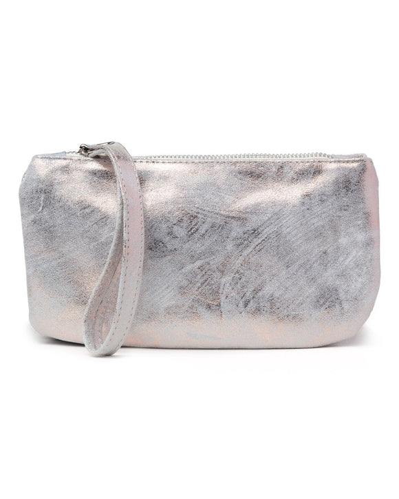 Ellie Wristlet: Rose Gold White