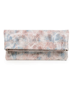 Mollie Cross-Body Convertible Clutch: Peachy Snake