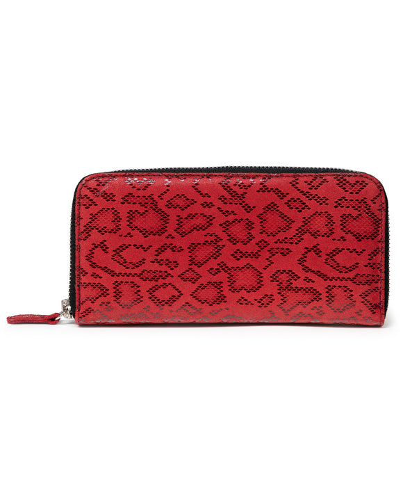 Zip Wallet: Red Anaconda