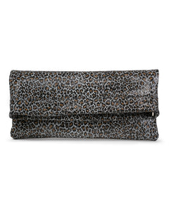 Mollie Cross-Body Convertible Clutch: Mini Black Leopard