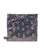 Mollie Cross-Body Convertible Clutch: Rattlesnake Blue