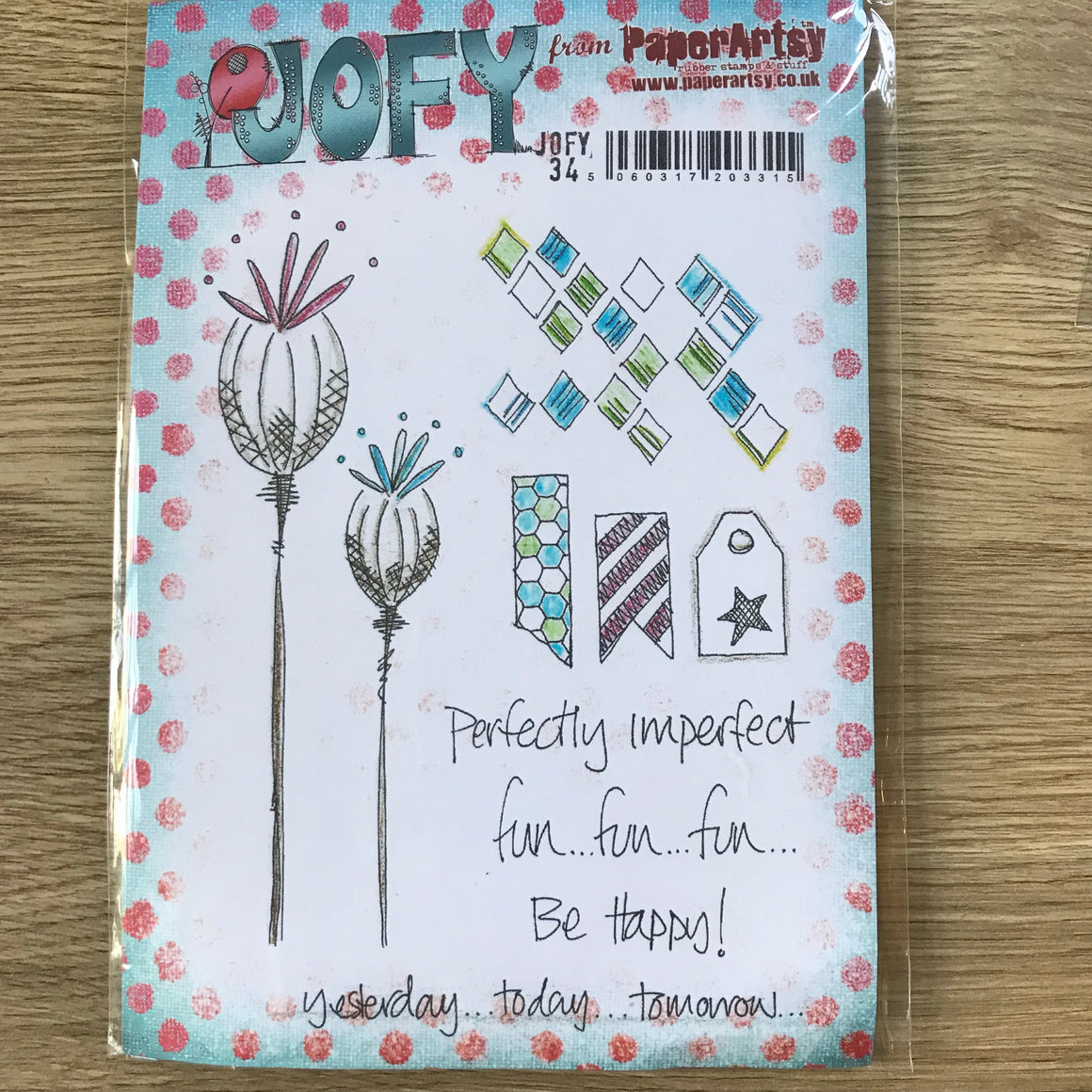 CLEARANCE - Jofy Stamps - PaperArtsy Jofy34
