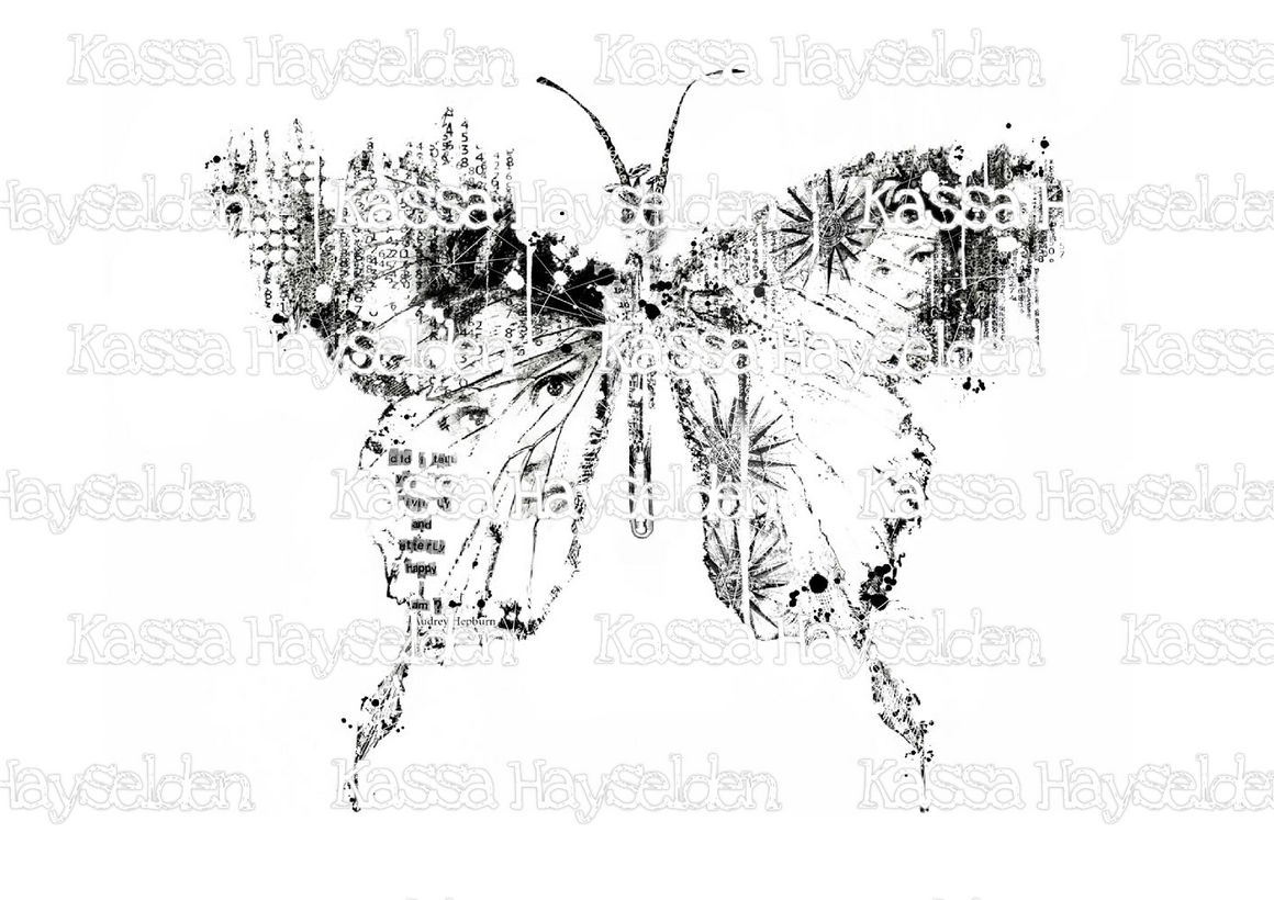Digi Audrey Hepburn Butterfly And Beautiful Wonderland Background