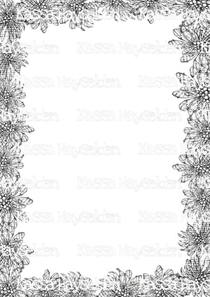 Digi Flower Frenzy Borders
