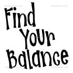 Find Your Balance Text