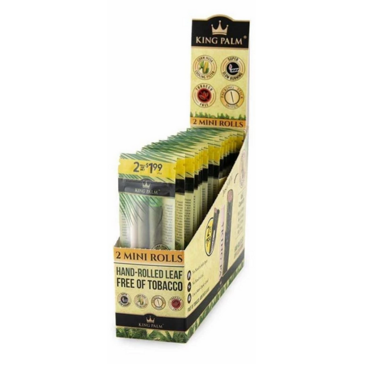 King Palm Mini Pre-Roll 2PK - 20ct Display (MSRP $1.99 each)