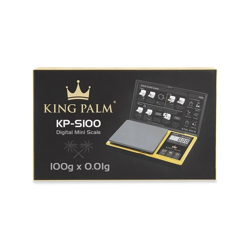 King Palm - Digital Pocket Scale - 100g x 0.01g - Black / Gold (MSRP $29.95)