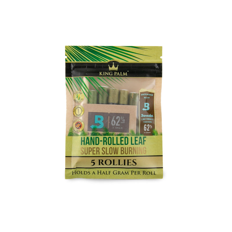 King Palm Rollies Pre-Rolls 5pk Pouches w/Boveda - 15ct Display (MSRP $4.99 each)