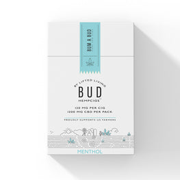 Lifted Living BUD™  Menthol HempCigs - 10 cigs/pack (MSRP $14.95)
