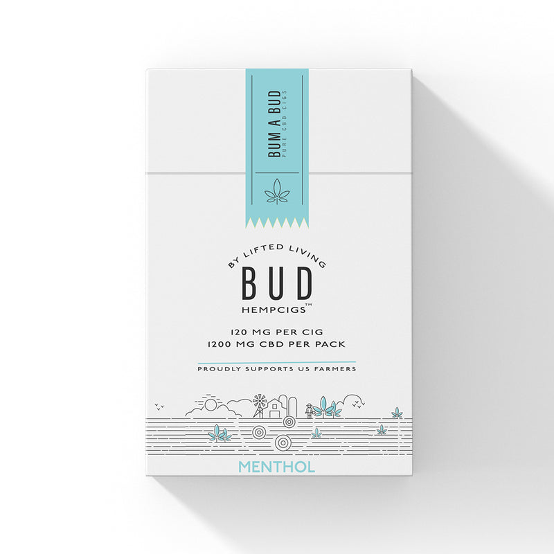 Hemp Living BUD™  Menthol HempCigs - 10 Pack Carton (MSRP $14.95/each)
