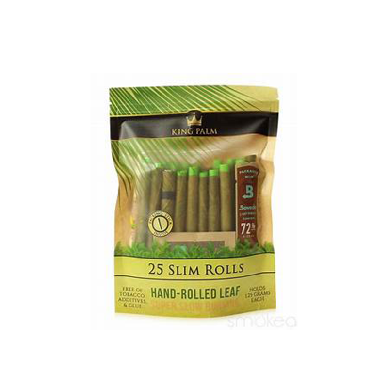 King Palm Slim Pre-Rolls 25pk Pouches w/Boveda - 8ct Display (MSRP $24.99 each)