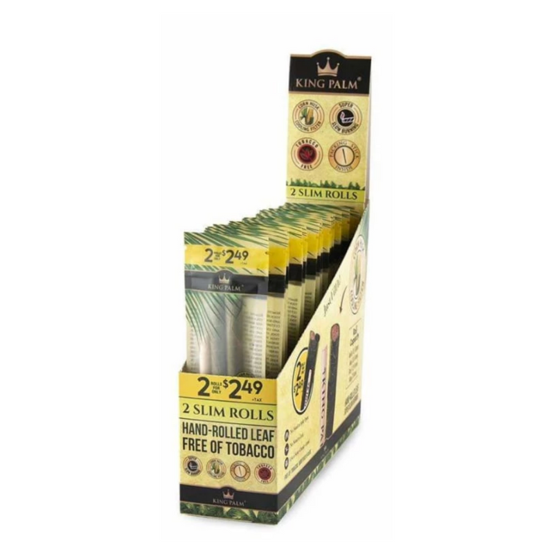 King Palm Slim Pre-Roll 2PK - 20ct Display (MSRP $2.49 each)