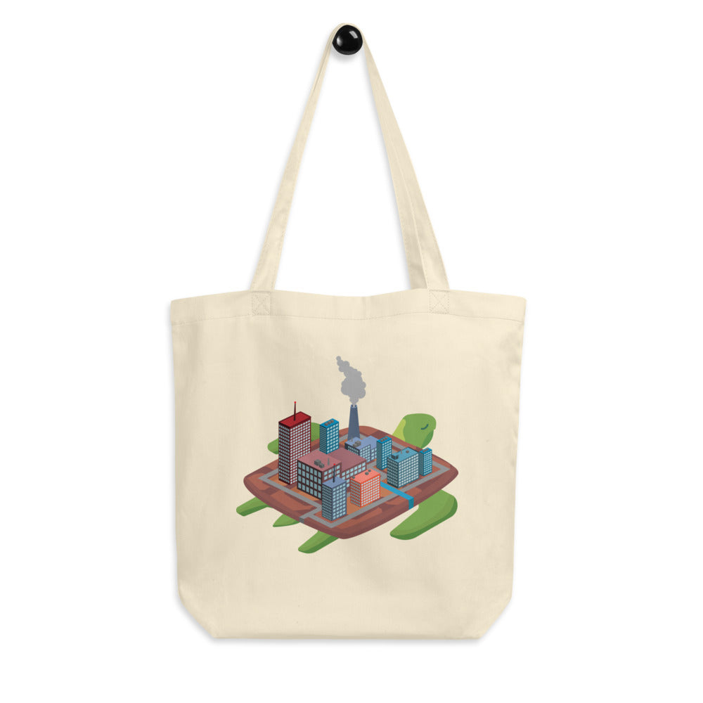 Factory Island Turtle - Eco Tote Bag